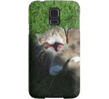 Excited cat Samsung Galaxy Case/Skin