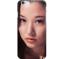 Beautiful young asian woman face art photo print iPhone Case/Skin
