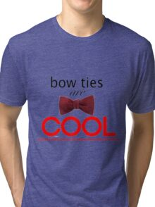 Doctor Who - Bow Ties Are Cool Tri-blend T-Shirt