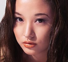 Beautiful young asian woman face art photo print by ArtNudePhotos