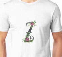 Letter Z with Floral Wreath Unisex T-Shirt