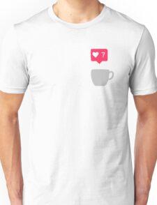 Coffe love instagram luck Unisex T-Shirt