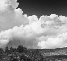 Black And white Vienna Maine Flying Pond With Storm Clouds Sticker