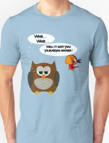 Owl and Petey the Pirate Unisex T-Shirt