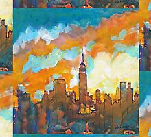 New York City Sunset Empire State Building by RDRiccoboni