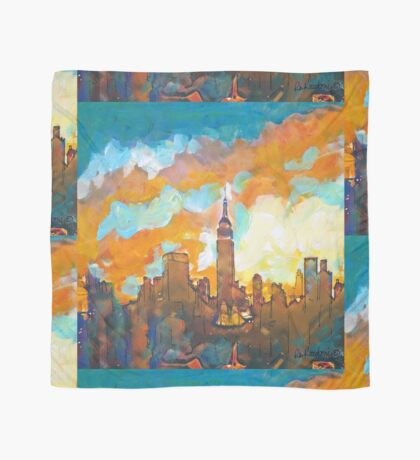 New York City Sunset Empire State Building by RD Riccoboni Scarf