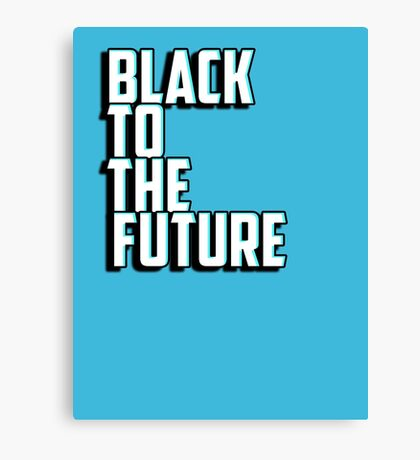 Black to the future Canvas Print