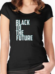 Black to the future Women's Fitted Scoop T-Shirt