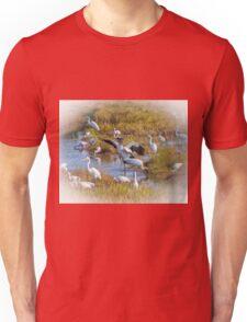 A Woodstork Duet Unisex T-Shirt