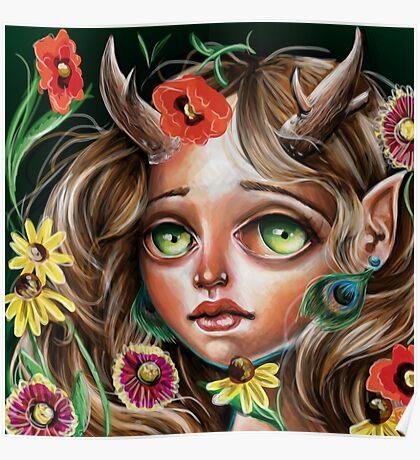 Wild Flower :: Pop Surrealism Little Scamp Poster