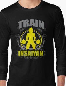 Train Insaiyan - Flowery Vintage Design Long Sleeve T-Shirt