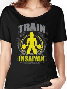 Train Insaiyan - Flowery Vintage Design Women's Relaxed Fit T-Shirt