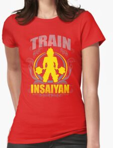 Train Insaiyan - Flowery Vintage Design Womens Fitted T-Shirt