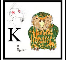 K is for Kakapo by Ancell