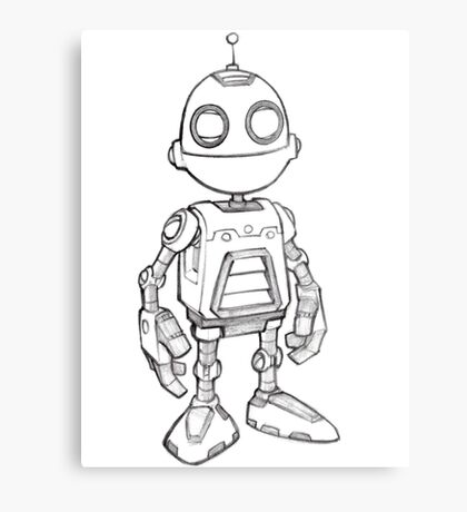 Ratchet & Clank - Official Clank Sketch Metal Print