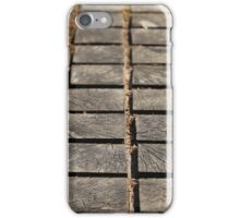 paving wooden walkway iPhone Case/Skin