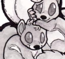 Flying Squirrel Pile Cartoon Sticker