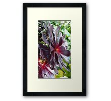 At the Heart of Purple Framed Print