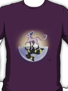 Umbreon & Espeon, Night and Day T-Shirt