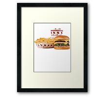 The Golden Meal Framed Print