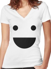 Share happiness Women's Fitted V-Neck T-Shirt