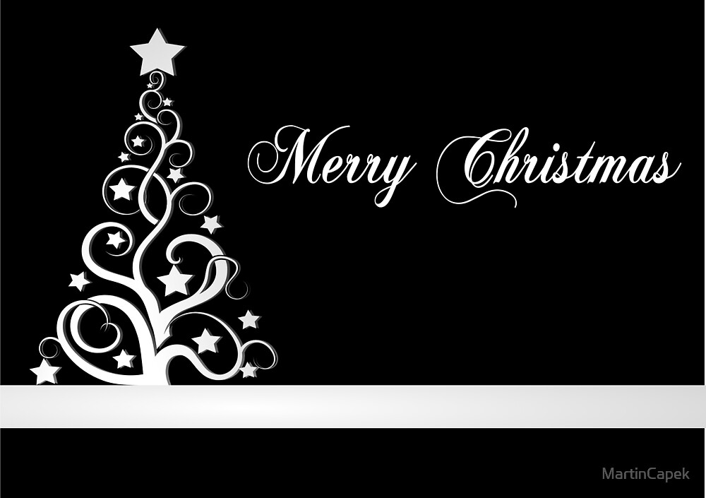 Black and white christmas design by MartinCapek