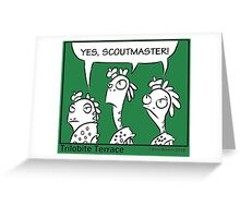 Yes Scoutmaster! (part 2) Greeting Card