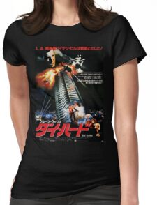 Die Hard Japanese Poster Womens Fitted T-Shirt