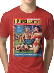 Out of this World Vol1 #2 1950 Golden Age Comic Cover Tri-blend T-Shirt