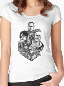 Witcher Wild Hunt Hearts of Stone Women's Fitted Scoop T-Shirt