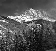 Winter Dolomites In Black And White by MartinCapek