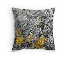 White Yellow Throw Pillow