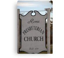 Church Sign, Holmes County, Ohio. Canvas Print