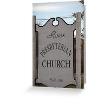 Church Sign, Holmes County, Ohio. Greeting Card