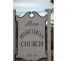 Church Sign, Holmes County, Ohio. Photographic Print
