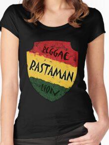 Reggae Rastaman Women's Fitted Scoop T-Shirt