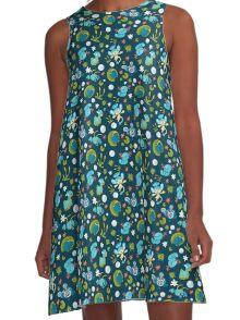 Bubble Beam A-Line Dress