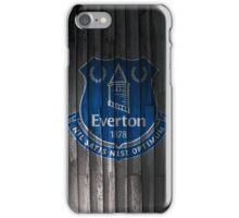 Everton wooden design iPhone Case/Skin