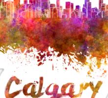 Calgary skyline in watercolor Sticker