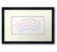 this is not a party Framed Print