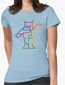 Robot: Chicago Womens Fitted T-Shirt