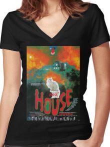 Hausu Women's Fitted V-Neck T-Shirt