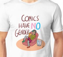 Comics Have No Gender Unisex T-Shirt