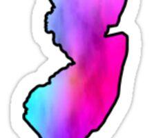 new jersey tie dye Sticker