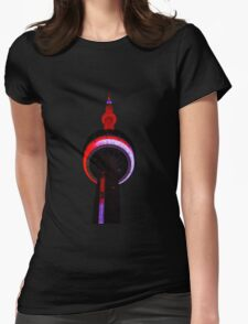 Toronto CN Tower Night Lights Views From The 6 Womens Fitted T-Shirt