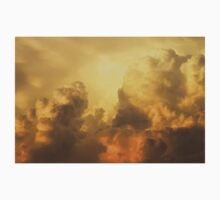 Colorful Orange Yellow Storm Clouds At Sunset Kids Clothes