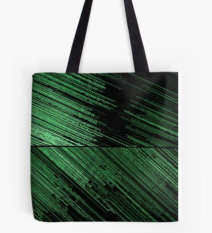 Line Art - The Scratch, green Tote Bag