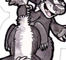 Badger Pile Cartoon Sticker