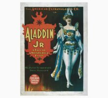 Performing Arts Posters The American Extravaganza Co in Aladdin Jr a tale of a wonderful lamp 0003 One Piece - Short Sleeve