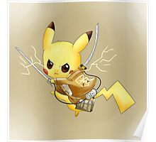 Attack on Titan Pikachu Poster
